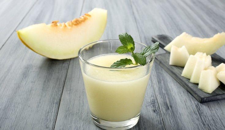 Batido de melón y yogur natural