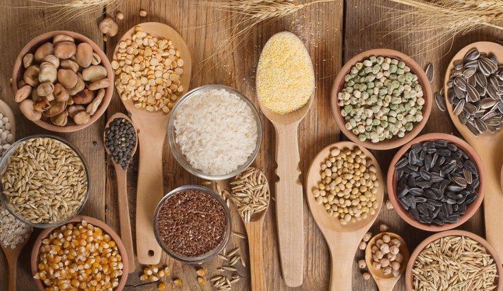 Los cereales integrales son ricos en hierro