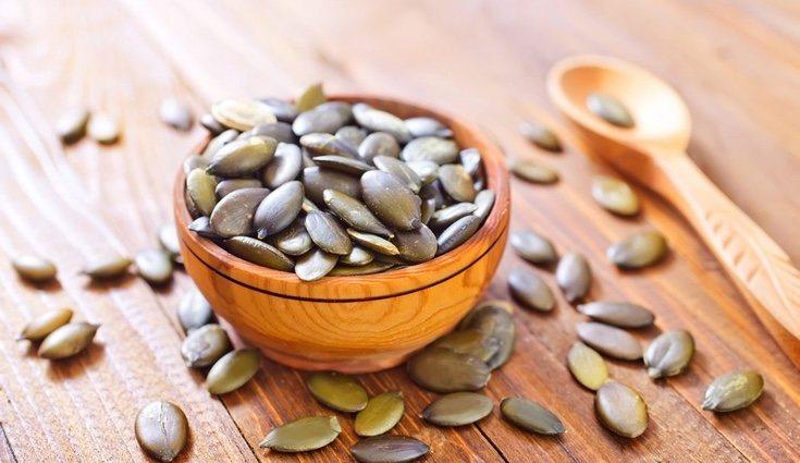 Las pipas de calabaza tienen un alto número de grasas omega
