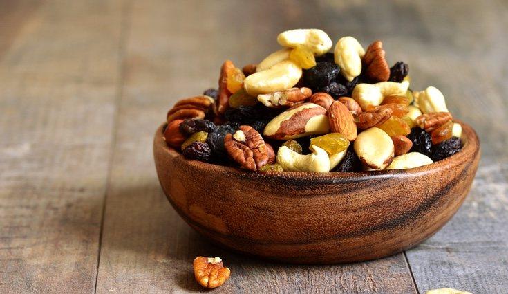 Los frutos secos aportan proteínas suficientes para dar energía al músculo