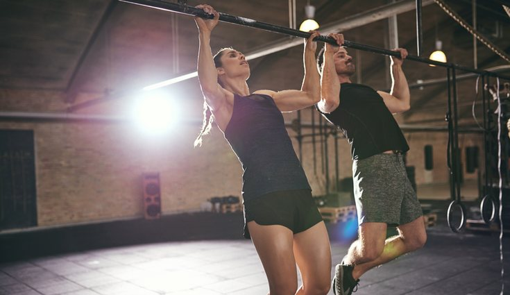 El ejercicio con barra parece sencillo pero es muy duro
