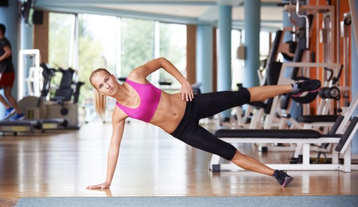 Los ejercicios de plancha también se pueden realizar de lado