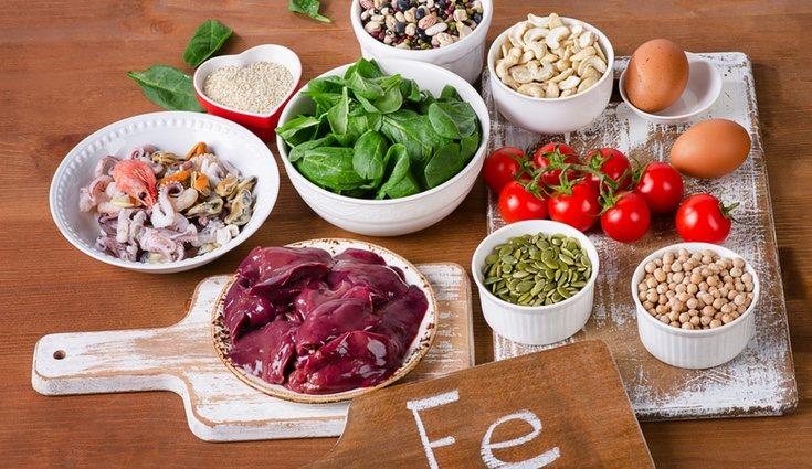 El hierro se puede equilibrar ingiriendo alimentos que lo posean