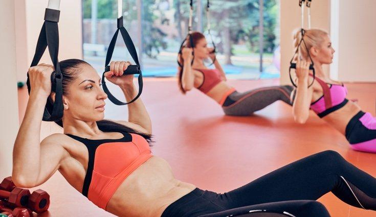 El TRX es un entrenamiento en suspensión en el que se emplea el propio peso de la persona