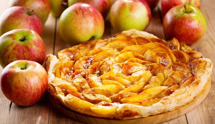 La tarta de manzana es una receta muy alta en azúcar y grasas saturadas