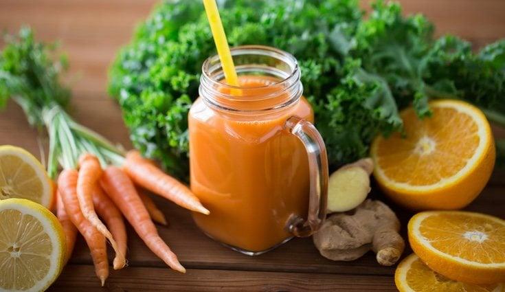 Otro de los batidos muy comunes con jengibre es el de zanahoria