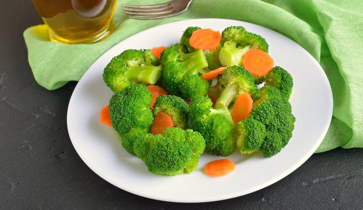 El brócoli y la zanahoria tienen una gran cantidad de agua