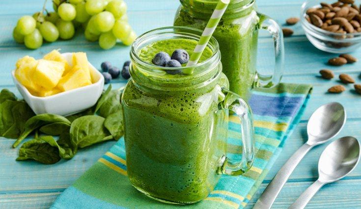 El smoothie verde es el más diurético de todos