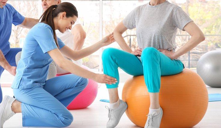 Anteriormente se utlizaba la pelota solo para la fisioterapia