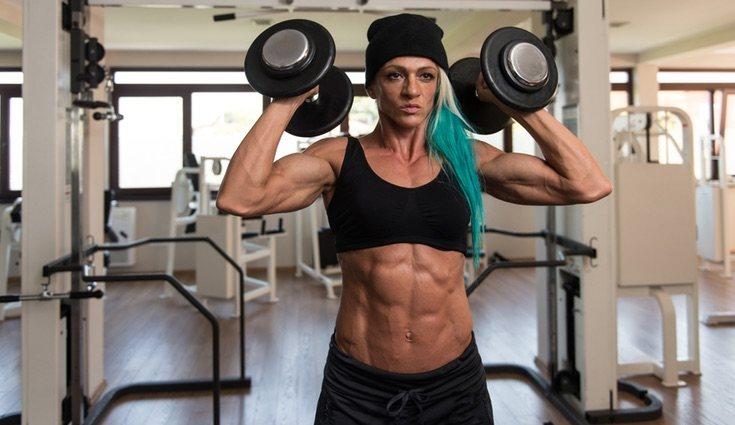 El bodybuilding consiste fundamentalmente en el levantamiento de pesas