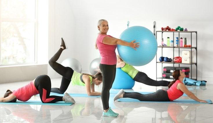 El fitball ayuda a un buen entrenamiento físico