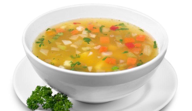Una sopa es una perfecta elección para la cena